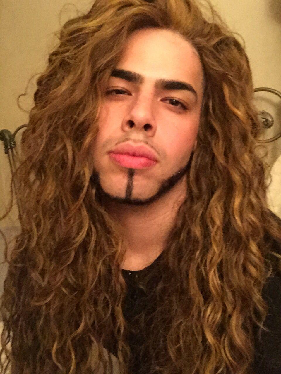 Gay long hair