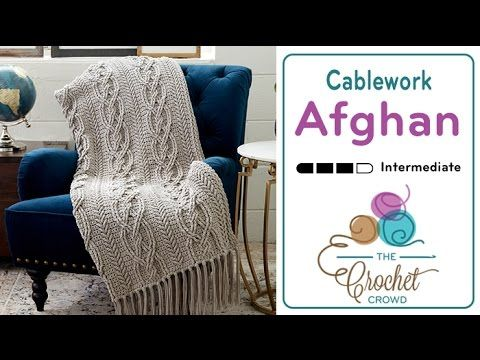 (15) How to Crochet a Cable Afghan - YouTube