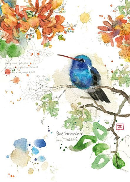 Bugart critters blue hummingbird critters new designed by jane quality greeting cards m4hsunfo