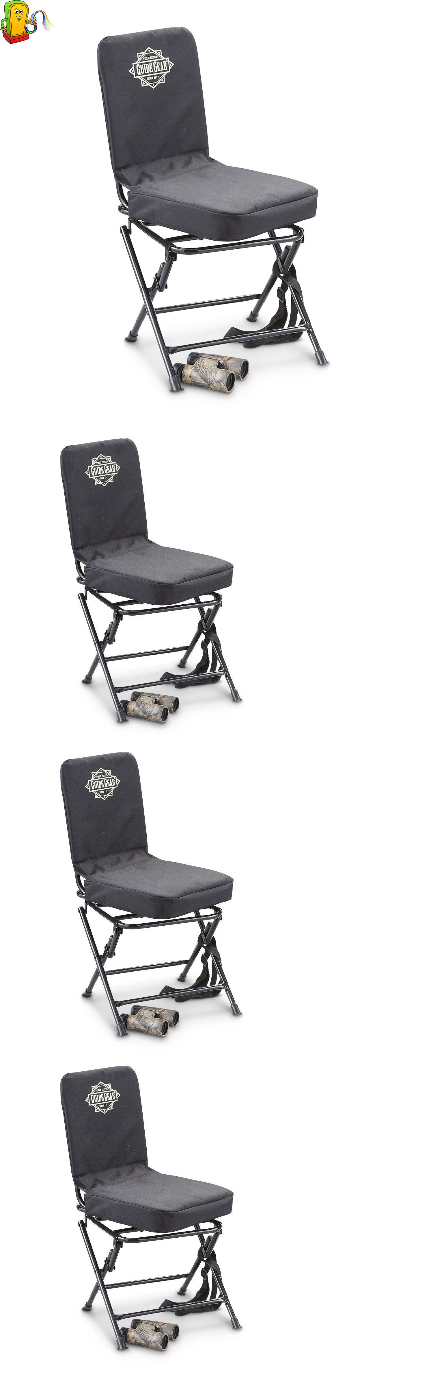 Seats and Chairs Portable Swivel Hunting Chair Back Padded