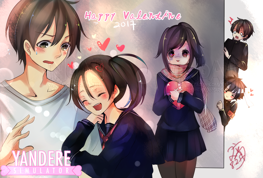 Speedpaint Sai Valentine Yandere Simulator By Eisjon Yandere