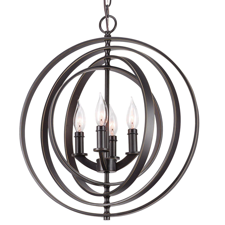 """Revel Kira Home Orbits 18"""" 4 Light Modern Sphere Orb Chandelier"""