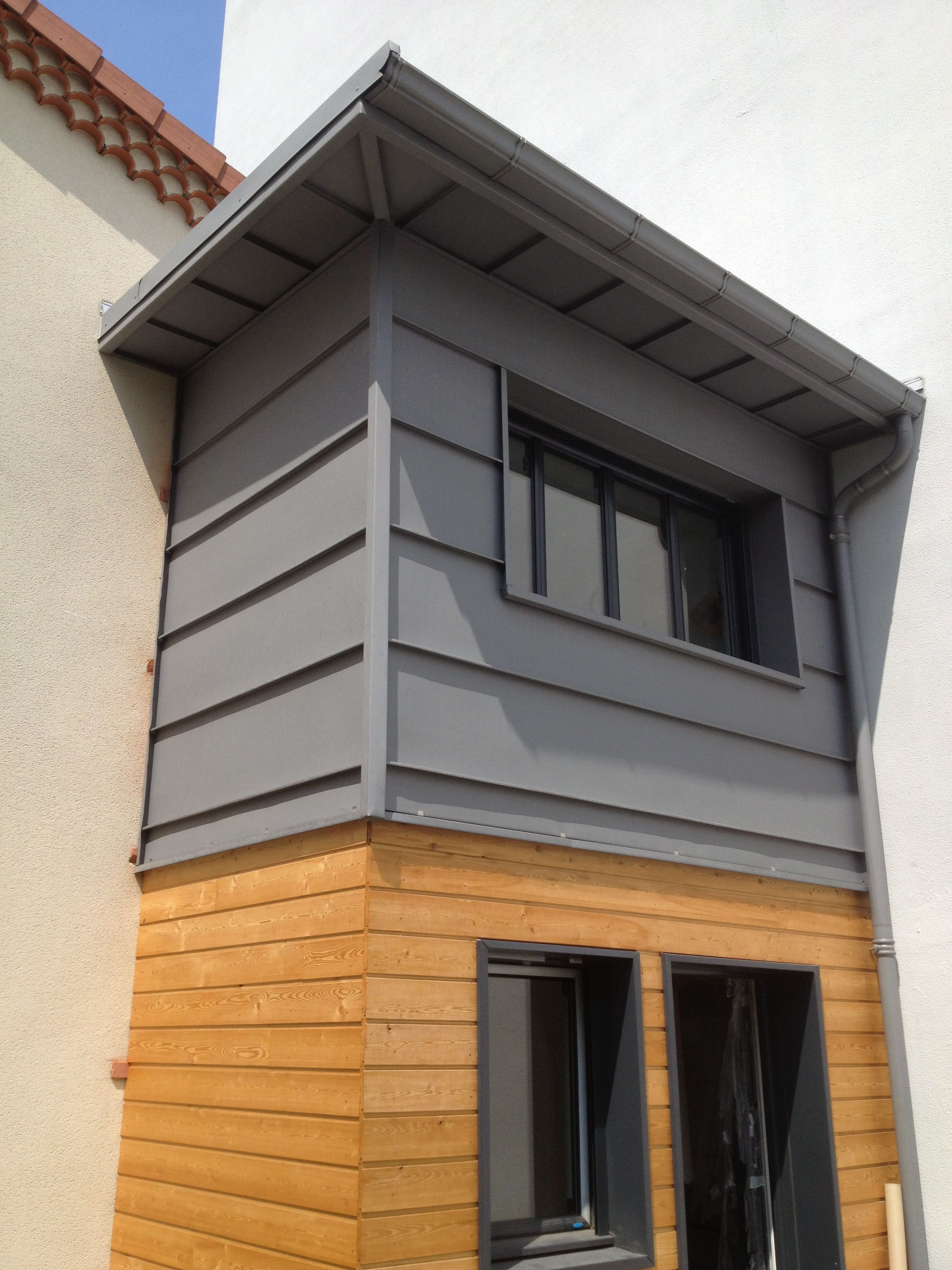 Extension d 39 une maison d 39 habitation clermont ferrand for Bardage zinc joint debout