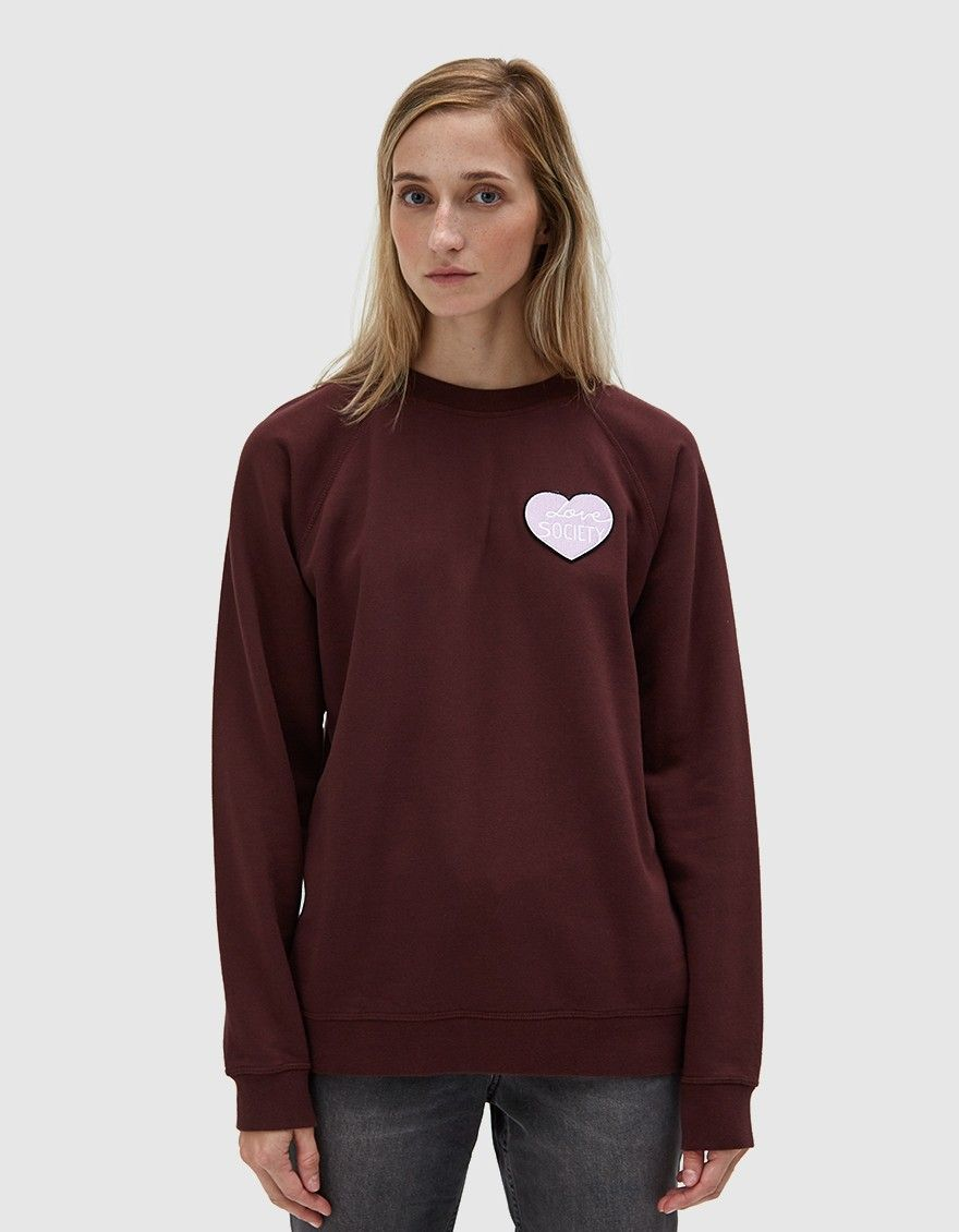 Ganni Lott Isoli Sweatshirt In Decadent Chocolate Sweatshirts Fashion Outfit Accessories [ 1130 x 880 Pixel ]