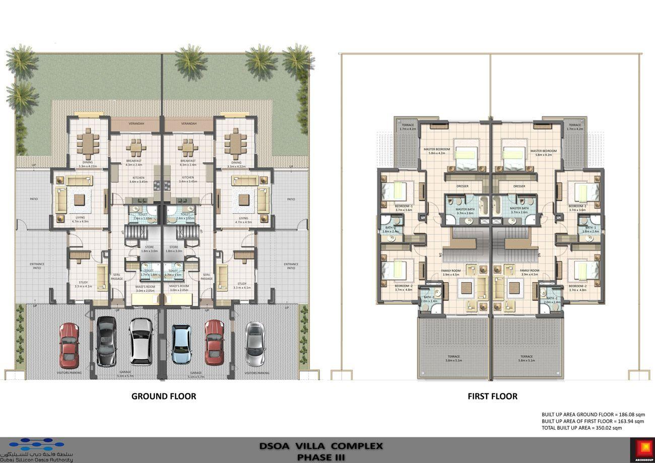 Cedre Villas Dubai Images Architecture Floor Plans