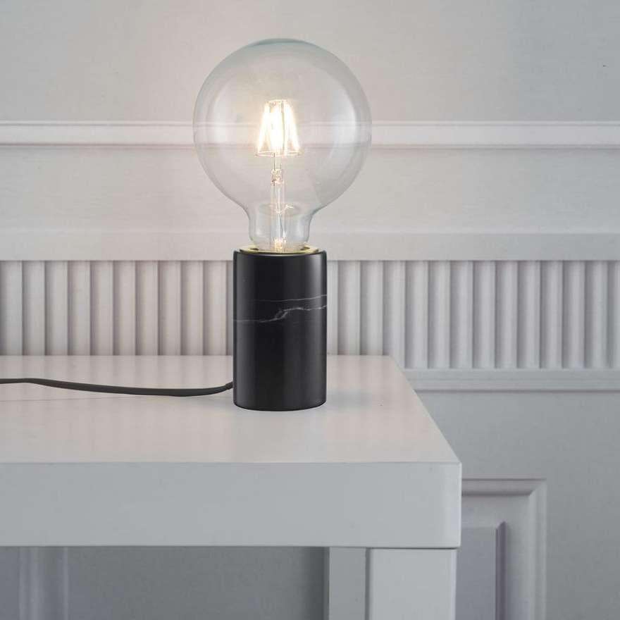 Stojaca Lampa Stolowa Siv 45875003 Nordlux Marmurowa Lampka Nocna Zarowka Bulb Czarna Lamp Lighting Decor