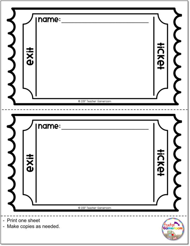 How To Use Exit Tickets In The Classroom Teacher Gameroom Exit Tickets Math Exit Tickets Kindergarten Exit Ticket