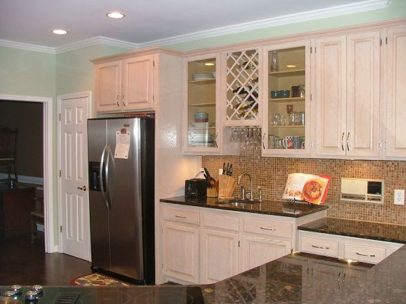 Kitchens with pickled oak cabinets hgtv hgtvremodels for White pickled kitchen cabinets