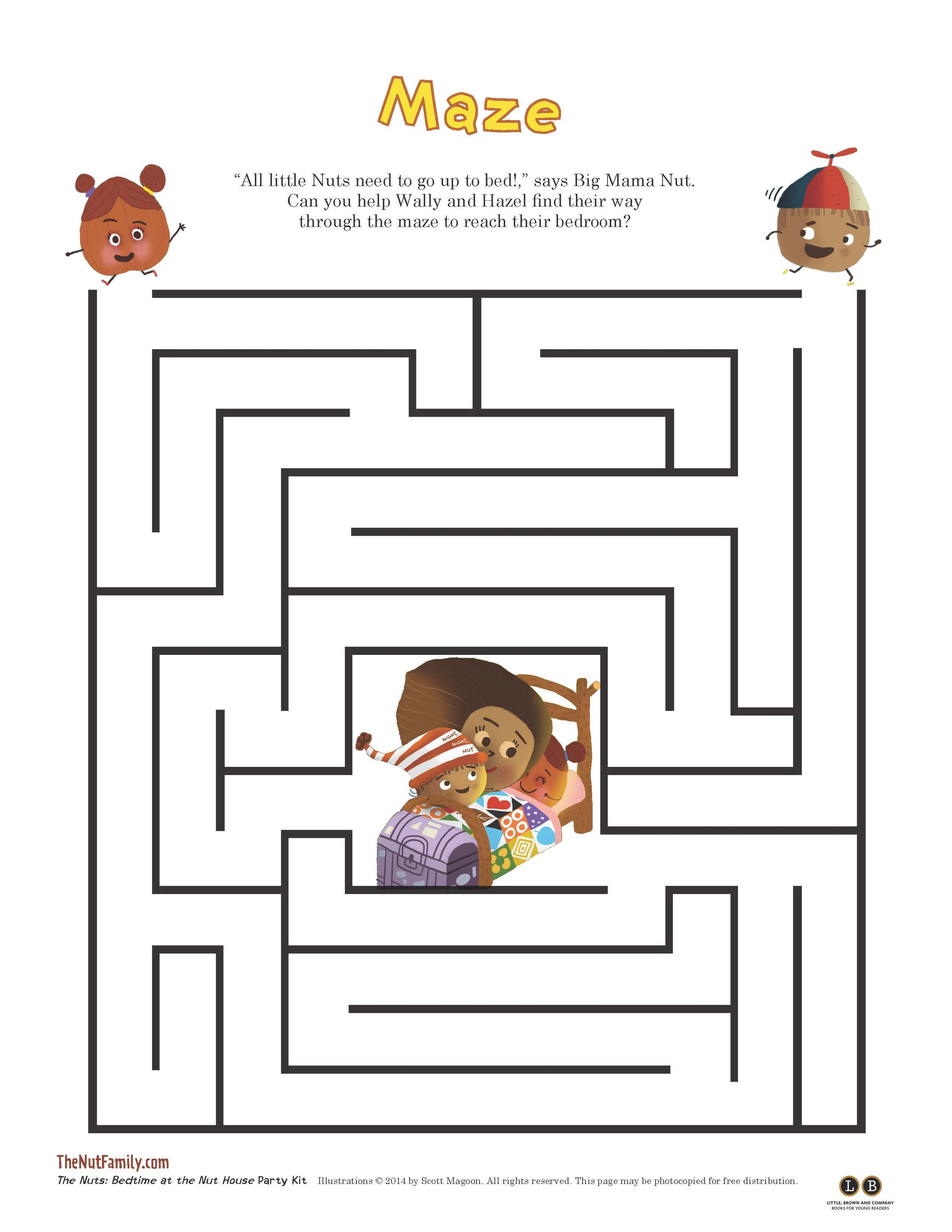 Bedtime At The Nut House Maze
