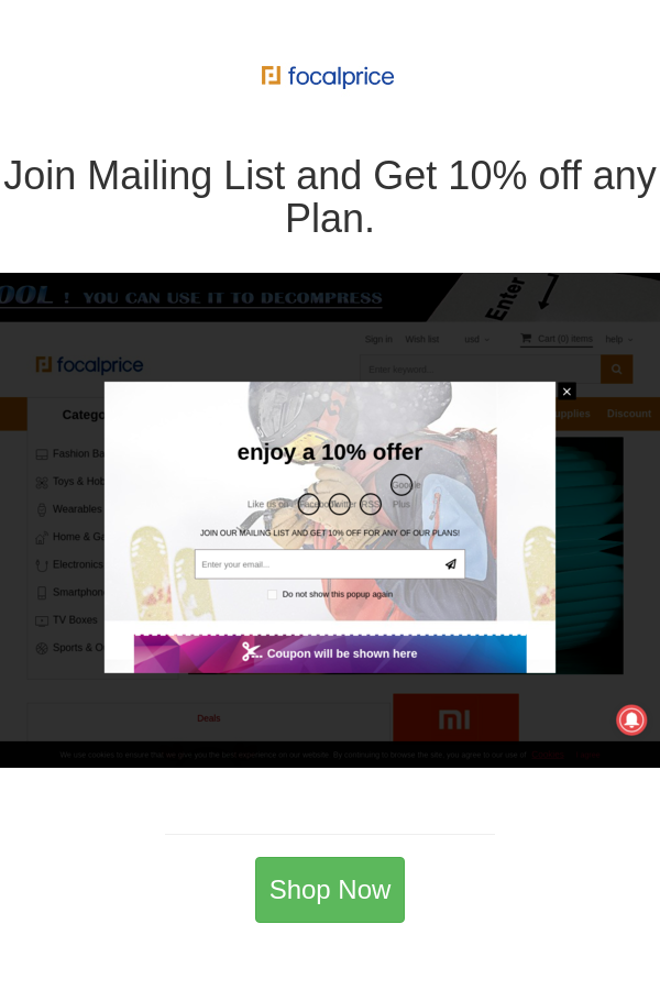Best Deals And Coupons For Focalprice In 2020 How To Plan List