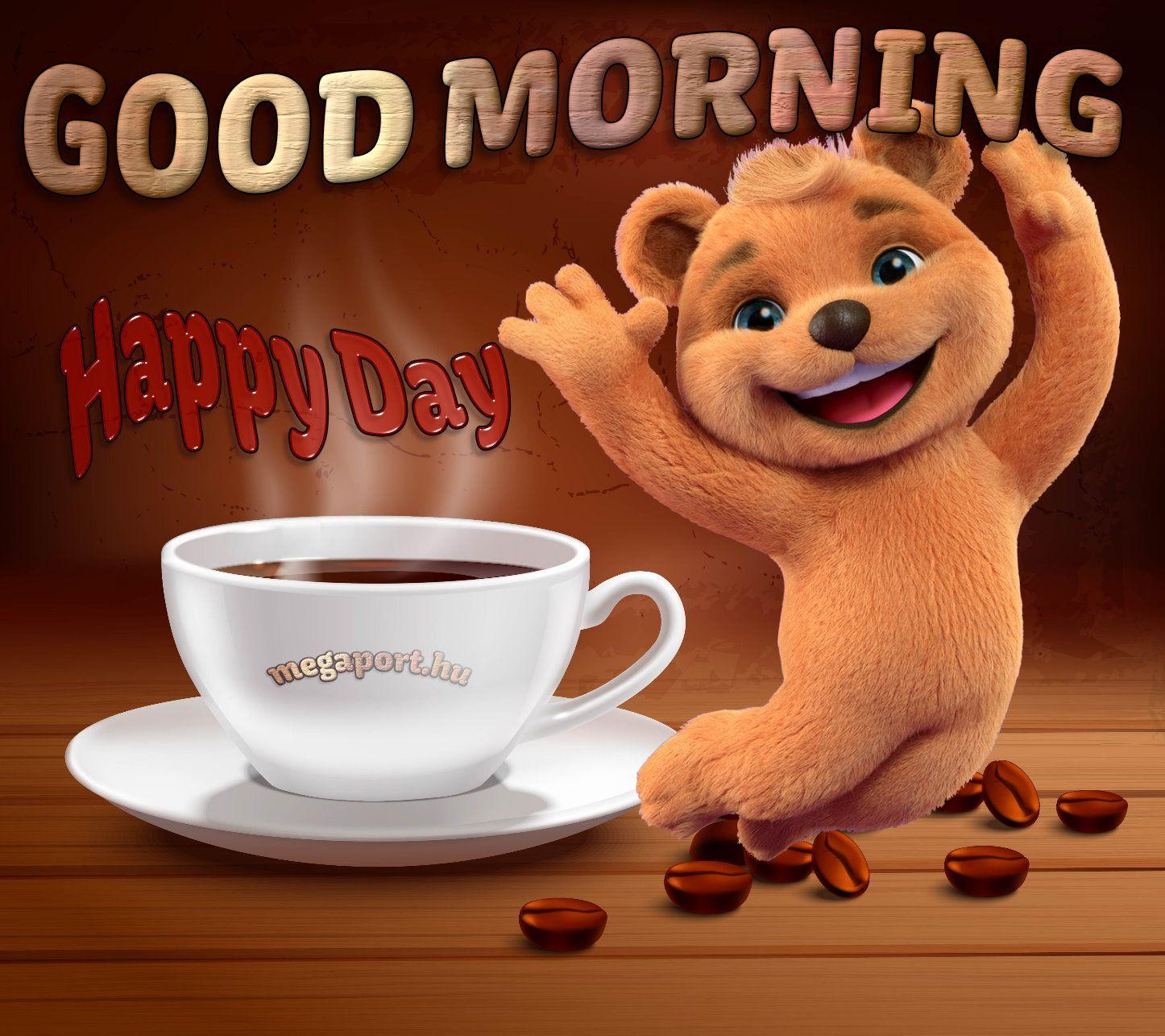 Cartoon Goodmorning Morning Happyday Happy Cute Teddybear
