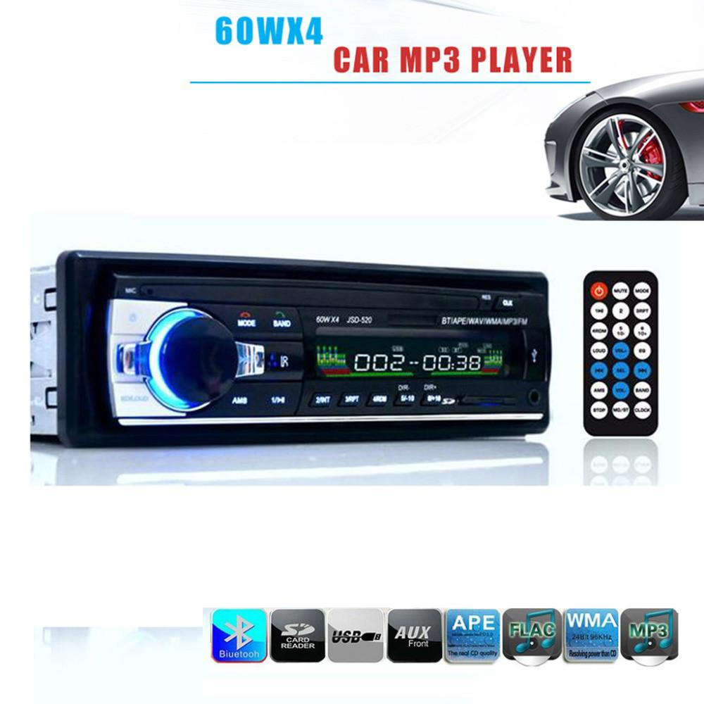 Bluetooth Car MP3 Radio Player Stereo Audio 1Din AUX USB SD FM Detachable Face