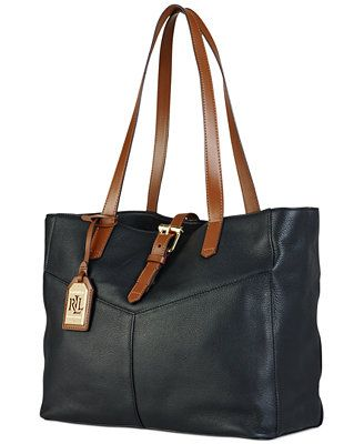 Lauren Ralph Lauren Landry Buckle Simple Tote