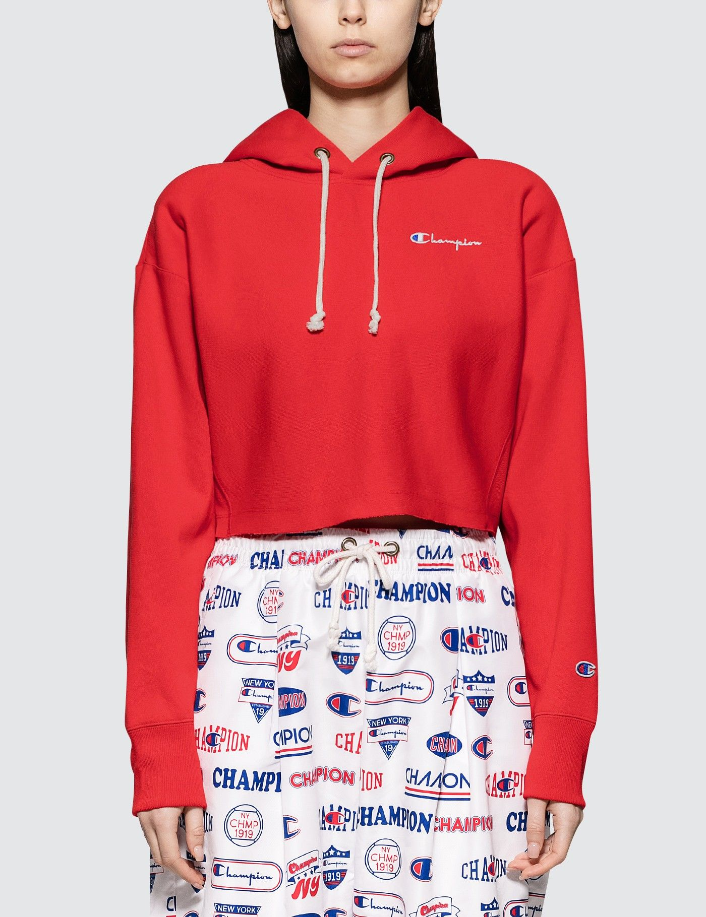Champion Reverse Weave Cropped Hooded Sweatshirt Hbx Cropped Hooded Sweatshirt Hooded Sweatshirts Champion Reverse Weave [ 1820 x 1400 Pixel ]