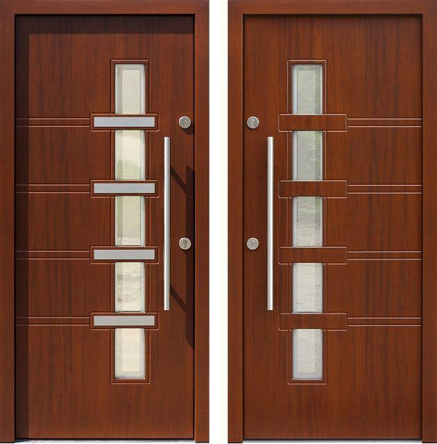 Drzwi wejściowe z kolekcji INOX model 442,1-442,11+ds1 produkcji AFB-Kraków