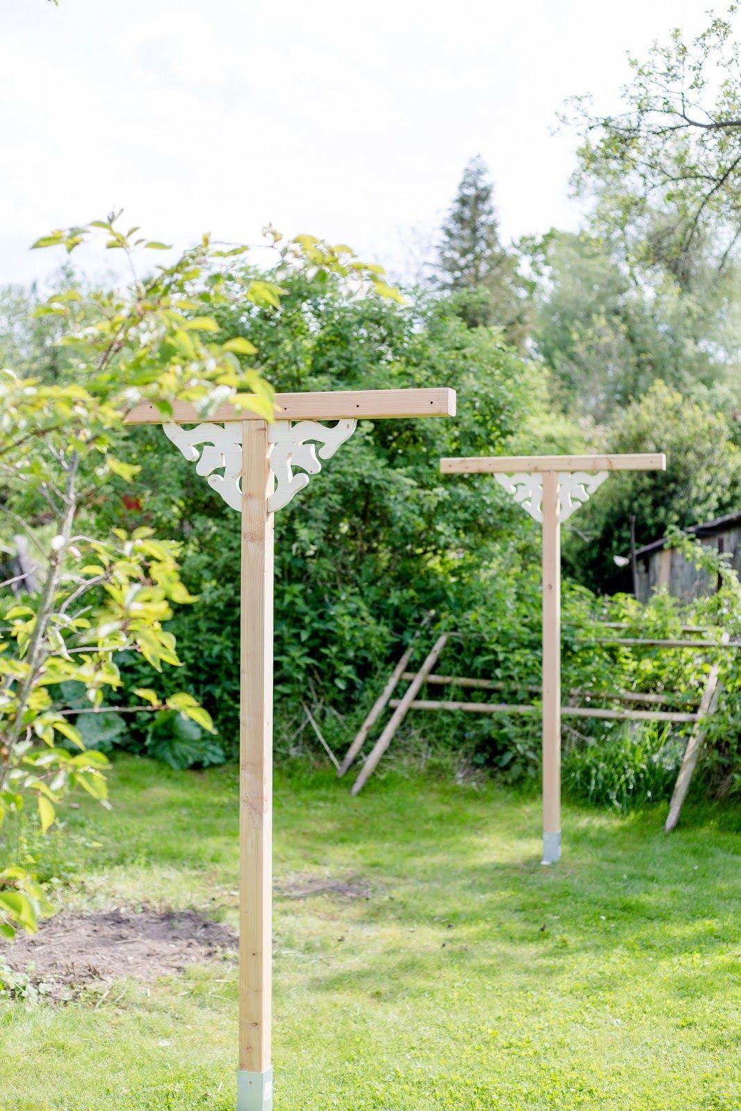 Nostalgische Wascheleine Aus Holz Selbstgemacht Pomponetti Wascheleine Gartengestaltung Garten