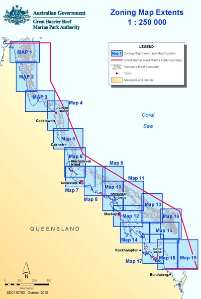 Http Www Gbrmpa Gov Au Data Assets Image 0004 28084 Zoningmapextents 2012 Maps1 19 Jpg Great Barrier Reef Sea Map Map