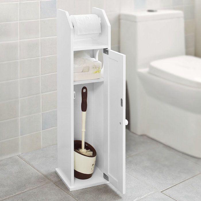Etagere Wc 40 Modeles Pour Trouver Le Meuble Ideal Avec Images Rangement Petite Salle De Bain Meuble Toilette Meuble Colonne Salle De Bain