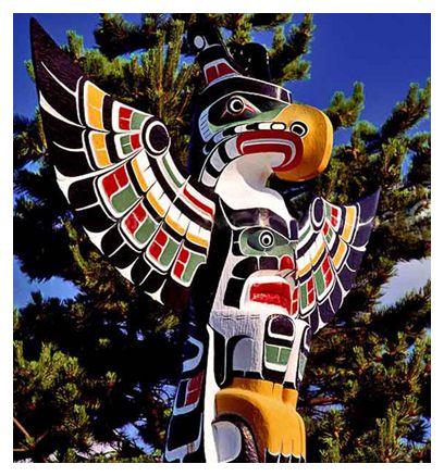Northwest Native American Totem Poles