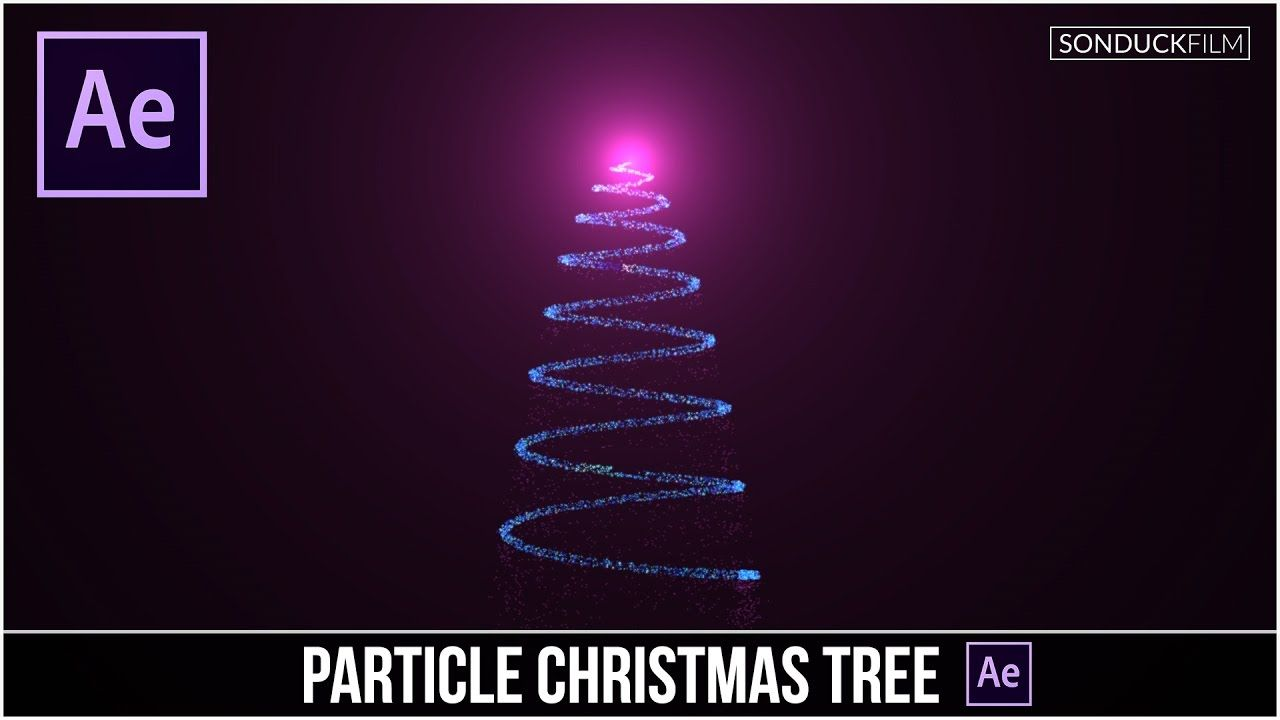 After Effects Tutorial Particle Christmas Tree Animation After Effect Tutorial Tutorial Motion Design Animation