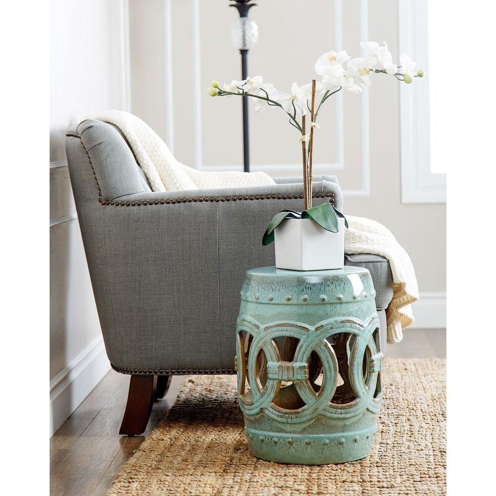 Superb Abbyson Moroccan Antiqued Turquoise Garden Stool Inzonedesignstudio Interior Chair Design Inzonedesignstudiocom