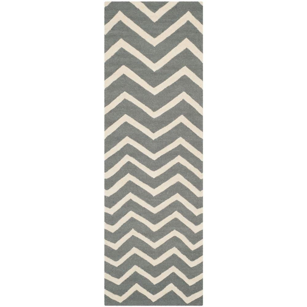 Safavieh Cambridge Dark Gray Ivory 3 Ft X 12 Ft Runner Rug Cam714d 212 Wool Rug Dark Gray Area Rug Grey Area Rug