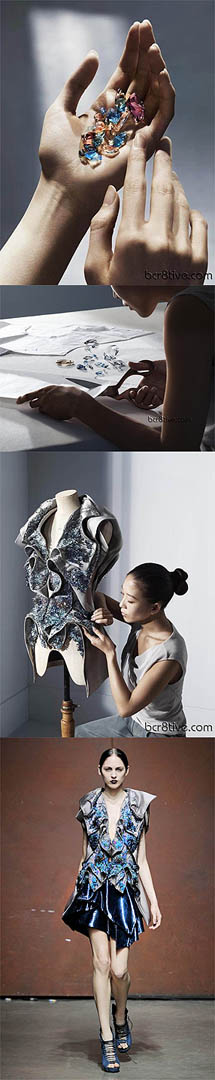 Swarovski making a statement in clothing ~ Yiqing Yin was introduced as the designer representing Swarovski Elements in Spring 2012.  Her first line for the Swarovski Elements' Global Advertising Campaign was in her Spring 2012 line.  She has been incorporating Swarovski Elements in her Haute Couture Fashions since then.  #swarovski #HauteCouture #couture #YiqingYin #PurelyInspiration http://www.yiqingyin.com/