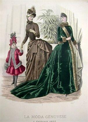 """Textiles in Liguria. La moda genovese. Illustrated magazine, Milan, 1882 - 1886. Courtesy of Biblioteca Universitaria di Genova."""