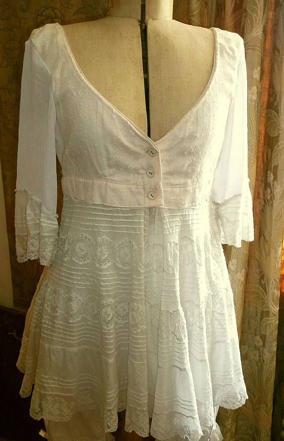 Upcycled Antique Lace Tunic