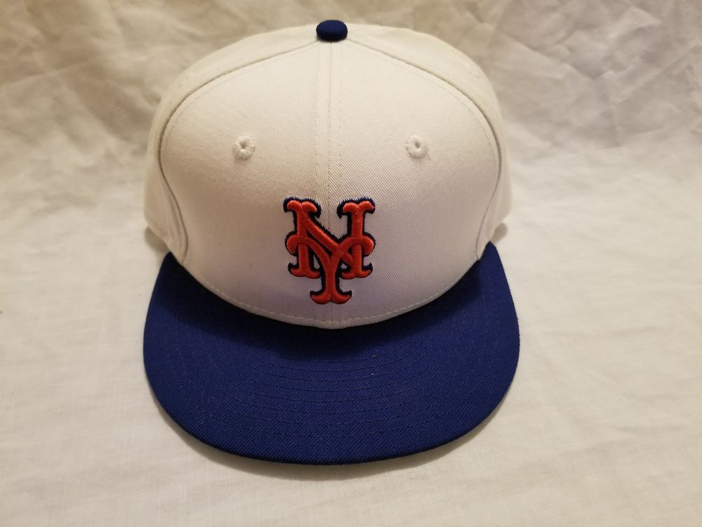 New York Mets Game New Era 59Fifty On Field Home Cap MLB Baseball Fitted Hat 7.5 #NewEra #NewYorkMets