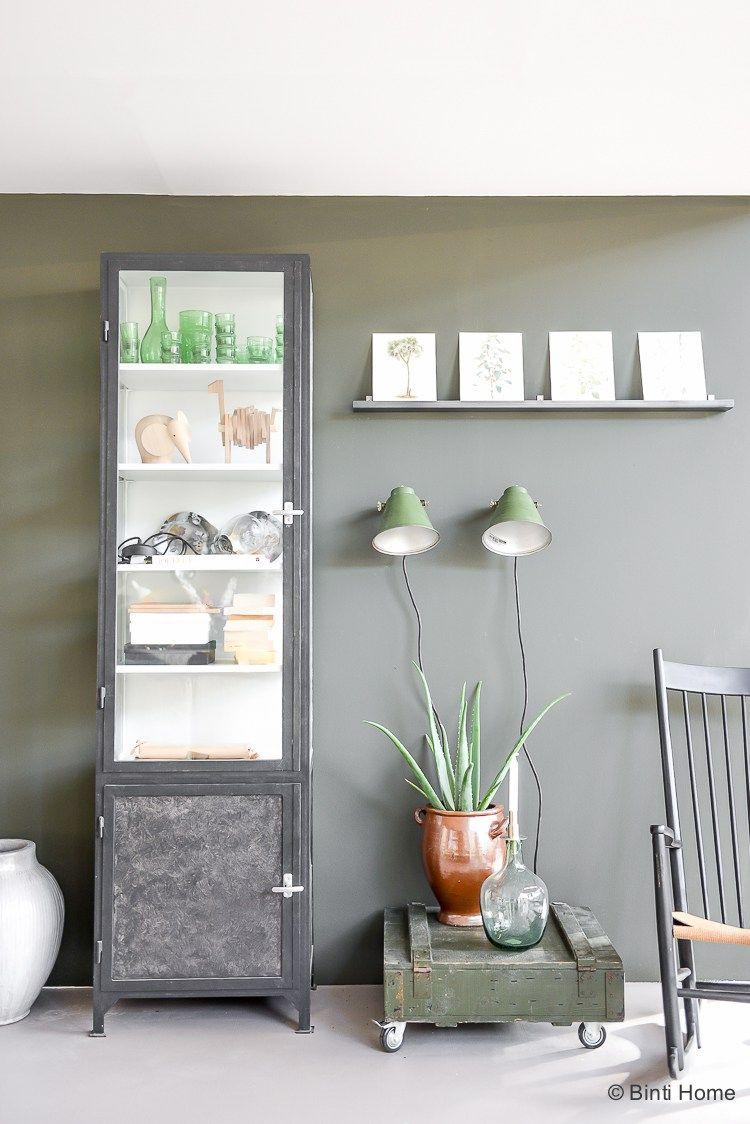 Vtwonen huis woonkamer inspiratie groene muur ©BintiHome | Gang ...