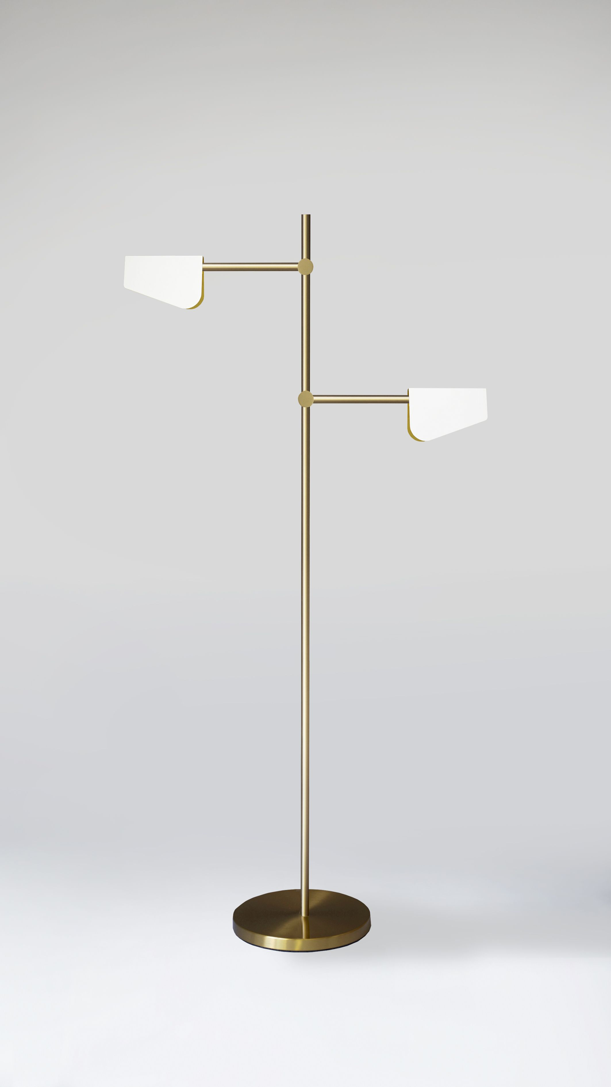 INTERSECTION II Floor Lamp. A minimal, twoarm floor