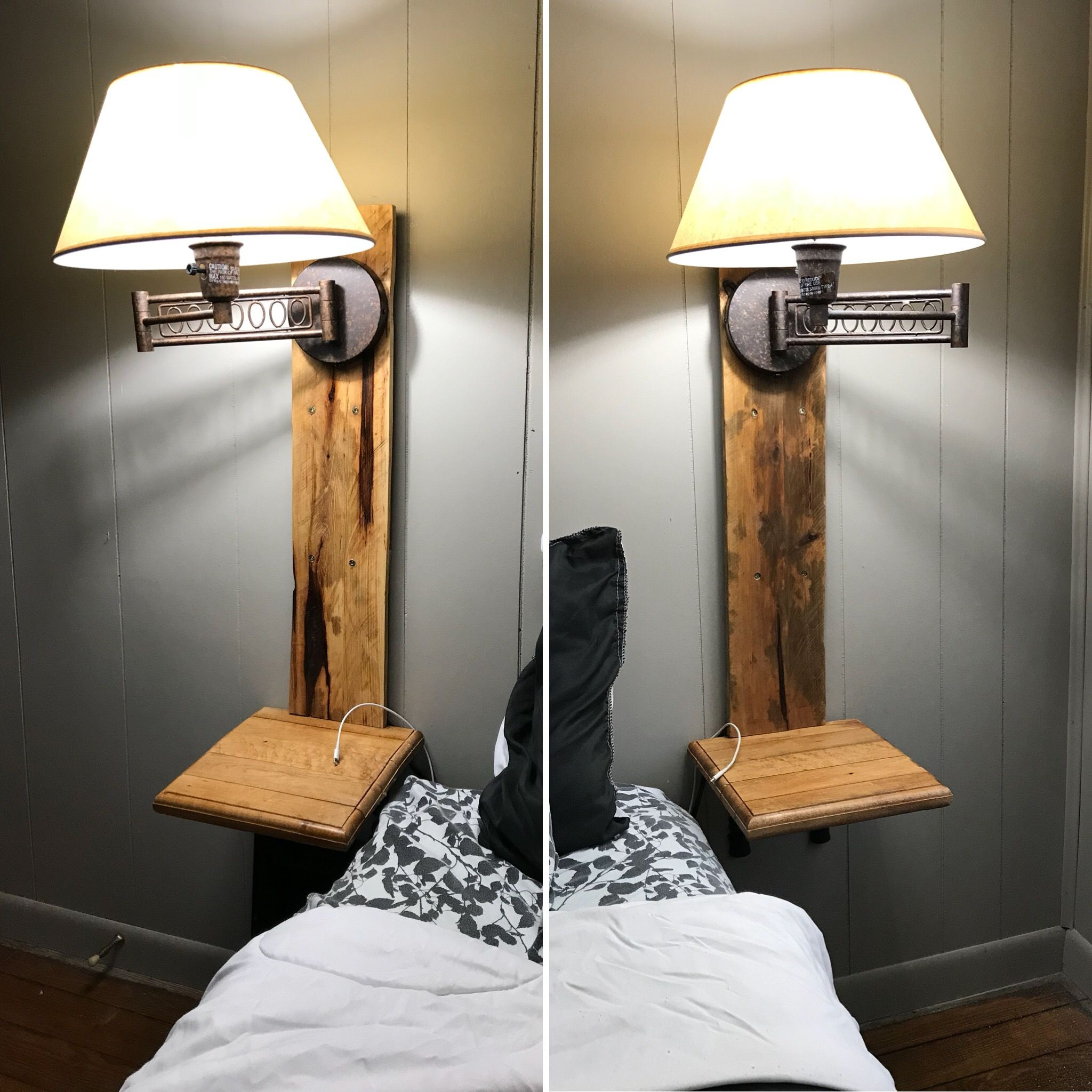 21++ Floating nightstand with light inspirations