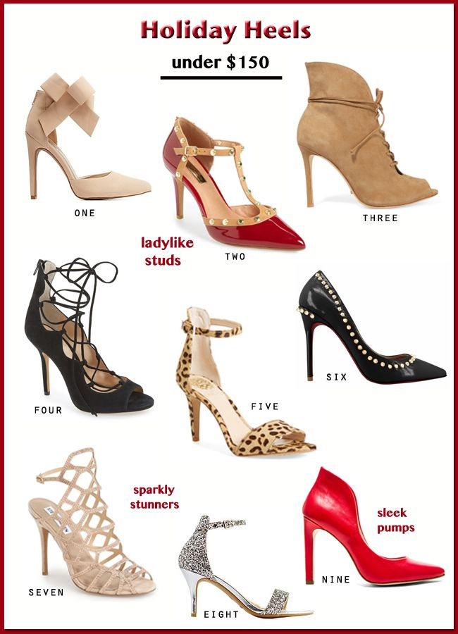 Holiday Heels for 2015 under $150 on The Key To Chic