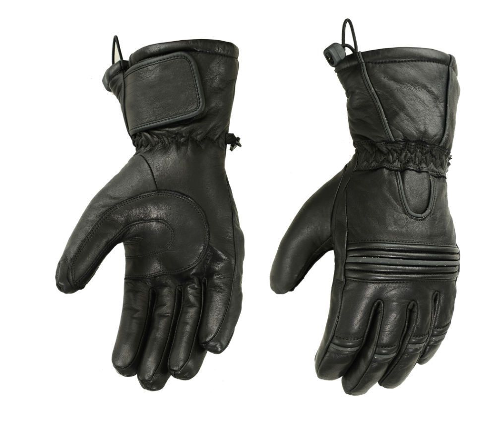 Insulated leather motorcycle gloves - Ds49 Heavy Duty Insulated Glove