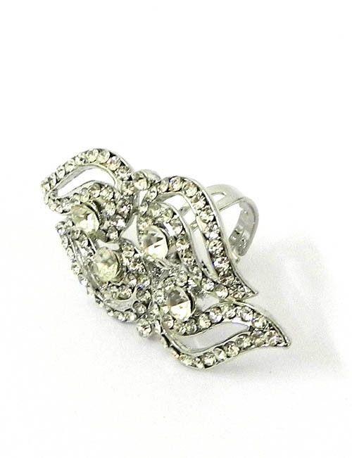 Ideal White Diamond Ring