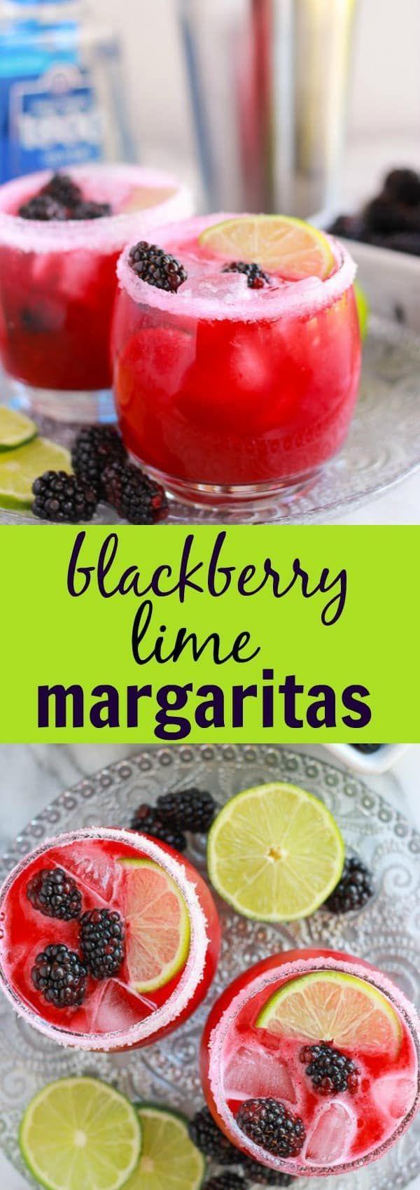 Blackberry Lime Margaritas #limemargarita Blackberry Lime Margaritas #limemargarita