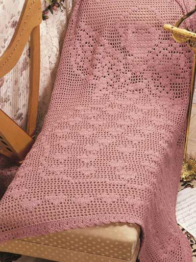 Crochet Granny Square Baby Afghan Patterns : Free Crochet Heavenly Hearts Afghan Pattern. I would just ...