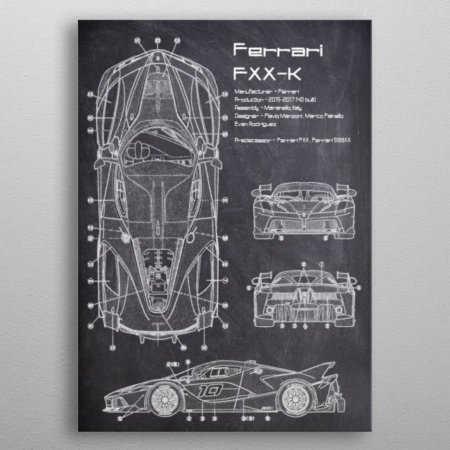 The Ferrari FXX K is a high performance limited production track day car built…   Displate thumbnail