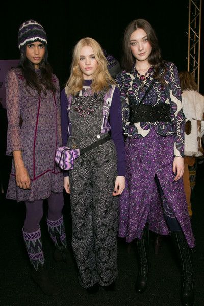 Anna Sui Bks Bis at New York Fall 2015 (Backstage) // Stylebistro.com