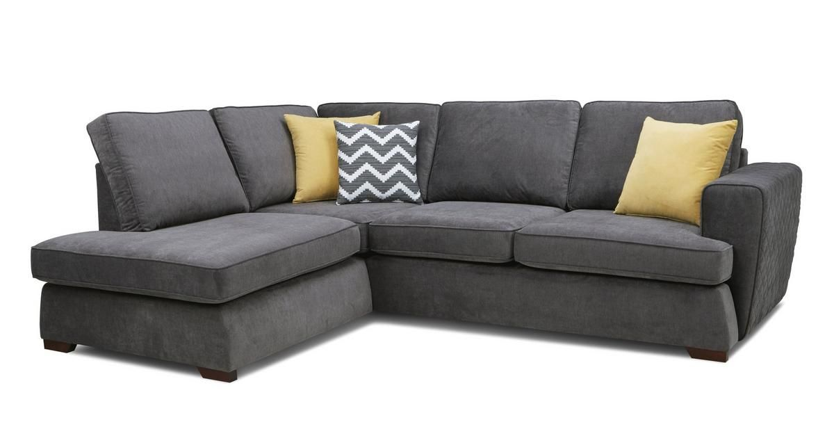 Tryst Right Hand Facing Arm Open End Deluxe Sofa Bed Corner ...