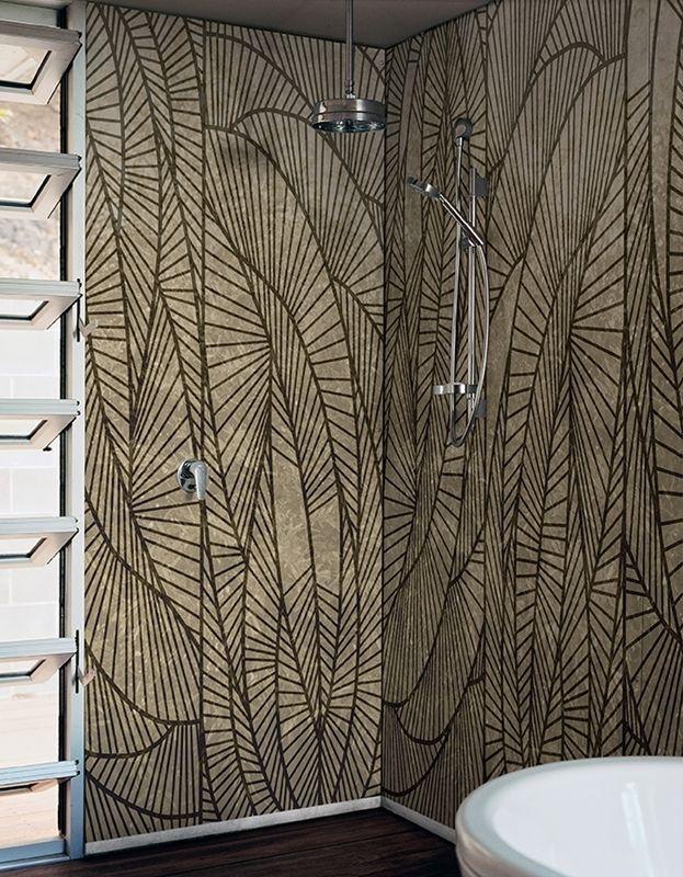 Contemporary Wallpaper Wall Deco Bagno Tropicale Design Del