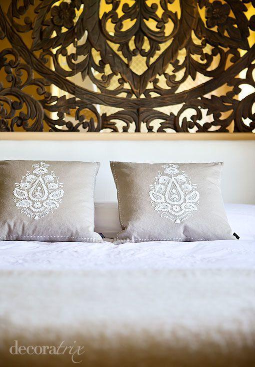 Decorar la pared del cabecero decoracion pinterest for Revistas decoracion dormitorios