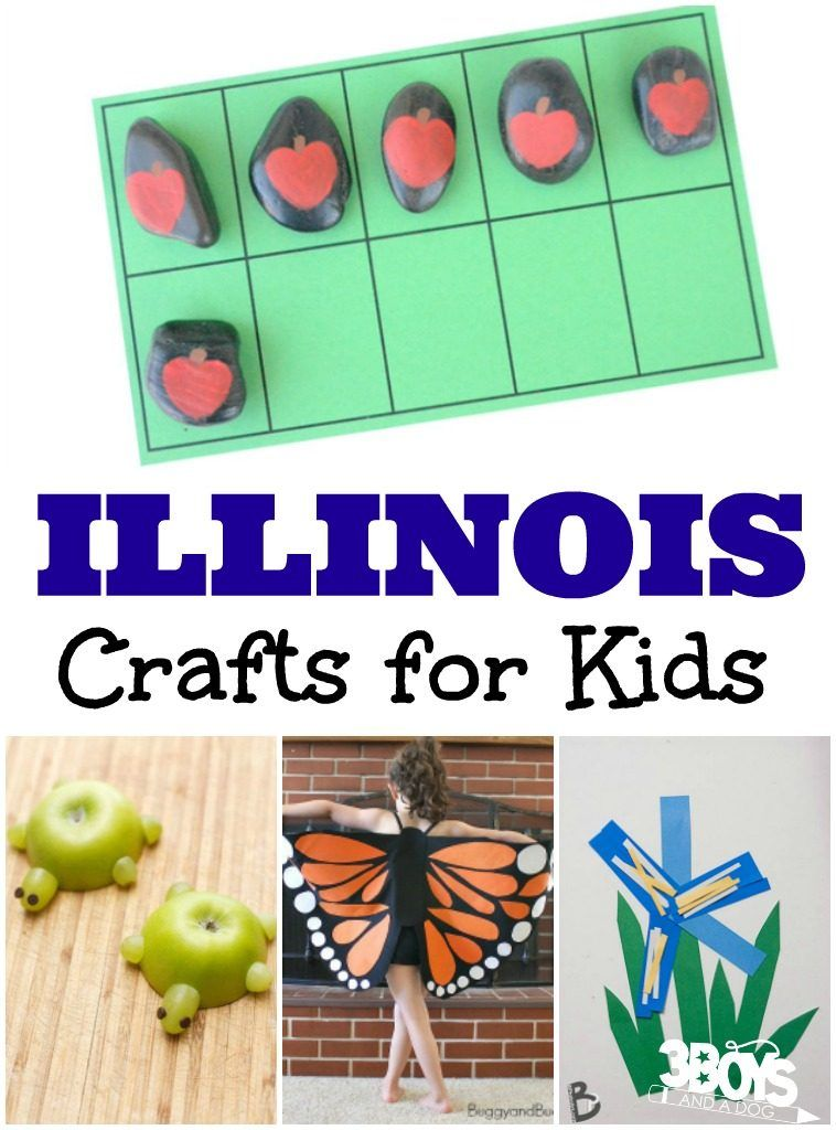 Illinois Crafts For Kids Crafts For Kids State Crafts Crafts