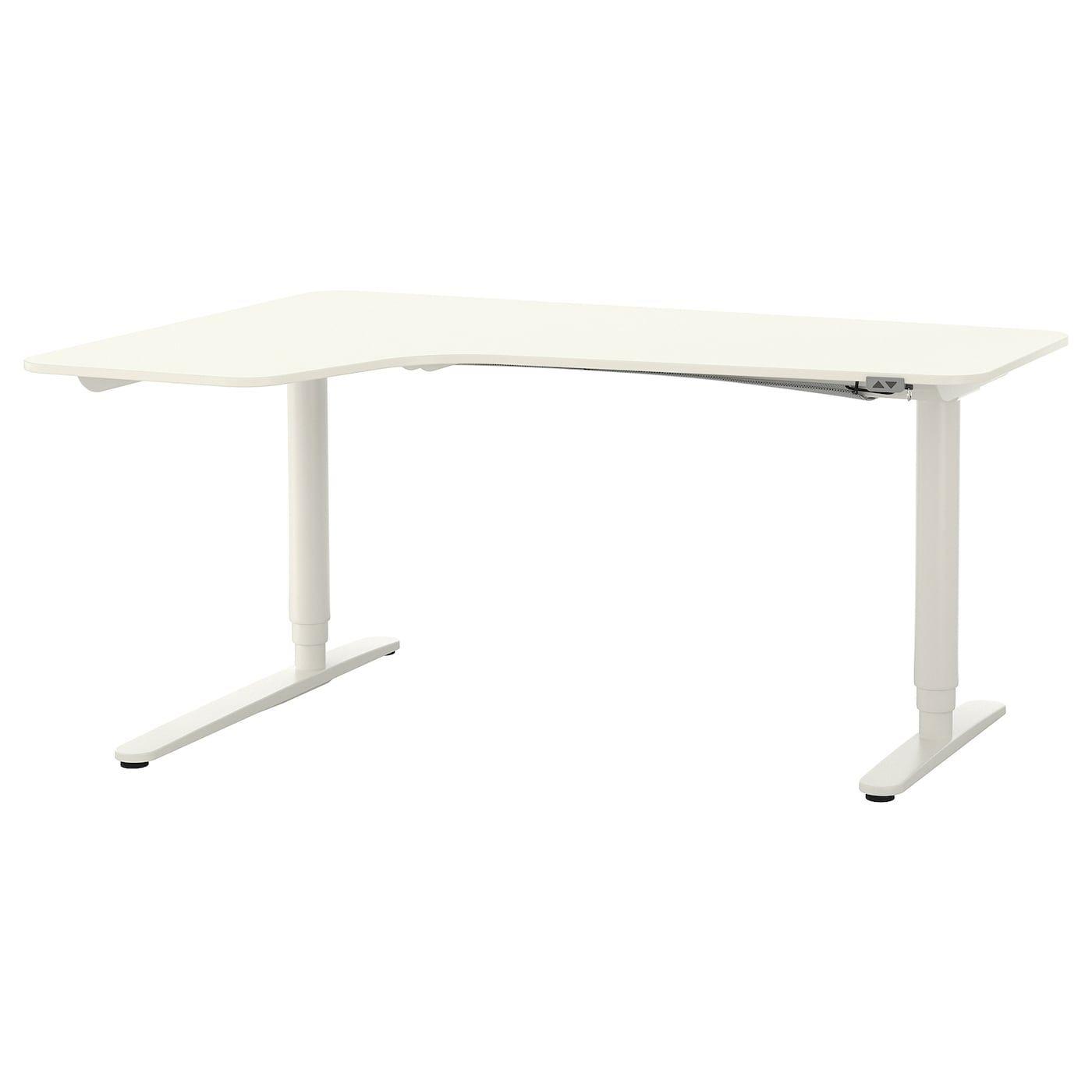 Bekant Corner Desk Left Sit Stand White 63x43 1 4 Ikea Corner Desk Sit Stand Desk White Corner Desk