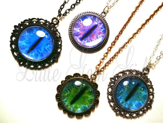 Cat eye necklace many custom options realistic animal dragon cat eye necklace many custom options realistic animal dragon eyeball pendant steampunk gothic aloadofball Choice Image