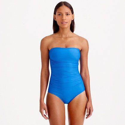 c8aa3b419ce J.Crew - Short torso ruched bandeau one-piece swimsuit | Cuteness ...