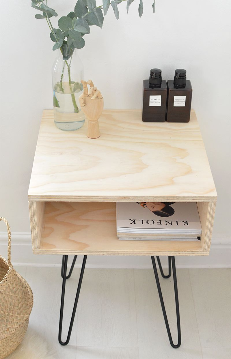 Diy mesa de madera y patas de horquilla bricodeco - Patas para mesas ...