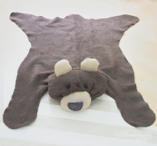 Exceptional Make Your Own Bear Rug For $6 (We Lived Happily Ever After)