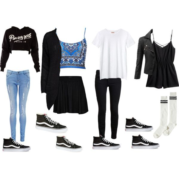 What To Wear With Old School High Top Vans by samsus on Polyvore featuring Organic by John ...